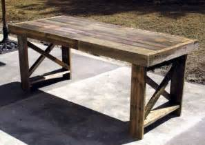 three unused shipping pallets get a new lease on life as a dining table inhabitat