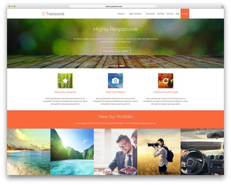 themes gallery wordpress free 30 free responsive photography wordpress themes 2018