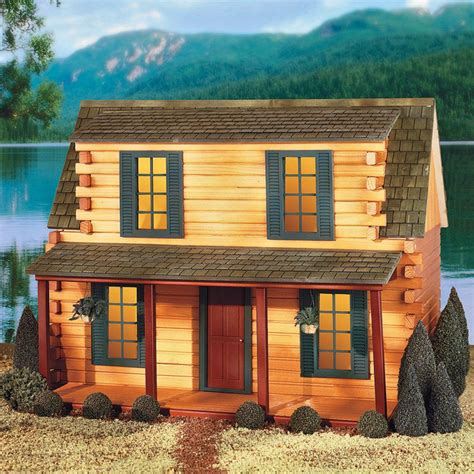 Log Cabin Dollhouse Kit by Real Toys Finished Adirondack Log Cabin Dollhouse At