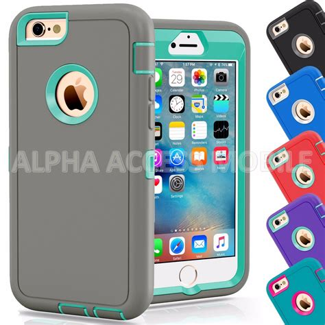 iphone 6 cases protective hybrid shockproof cover for apple iphone 6 6s 4 7 5 5 quot plus ebay