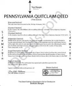 pennsylvania quit claim deed forms deeds com