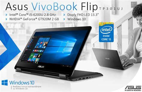 Laptop Asus Vivobook Flip laptop asus vivobook flip tp301uj i5 6200u promotii