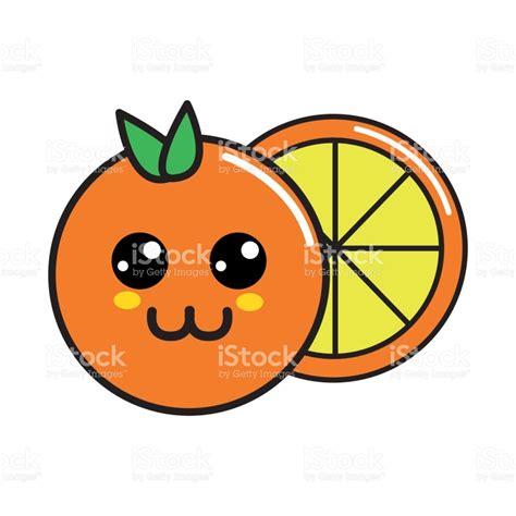 imagenes kawaii navideñas fruta naranja feliz agradable de kawaii illustracion libre