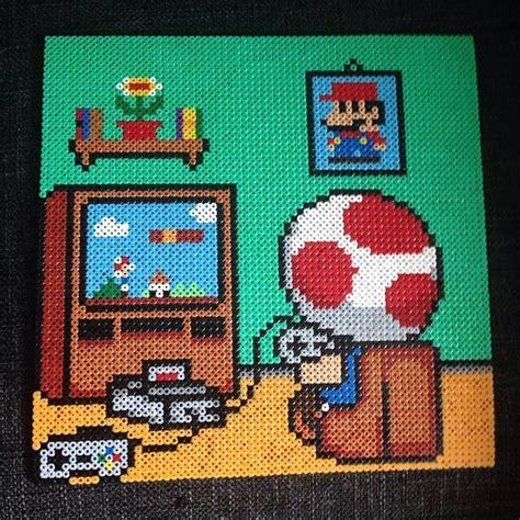 pixel art toad playing nintendo nes pixelated super best 25 hama beads mario ideas on pinterest