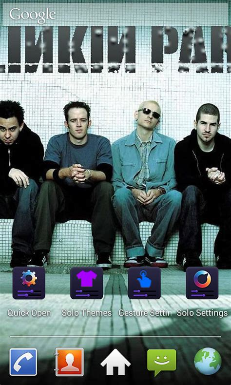 themes for android band linkin park band theme free free android theme download