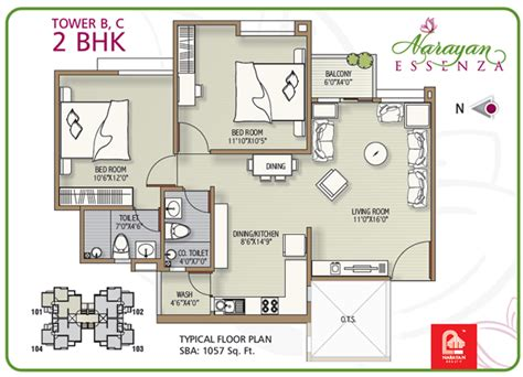 2 bhk apartment floor plans narayan essenza house plan 2 3 bhk apartments in vadodara