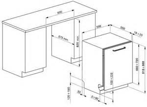 Dishwasher Height Guide Sta6447nl Smeg Volledig Geintegreerde Vaatwasser
