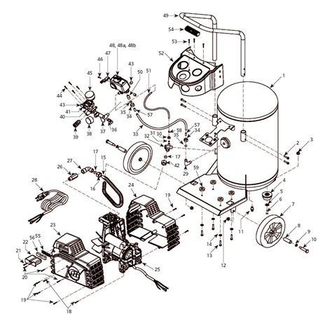 hj300100 cbell hausfeld air compressor parts