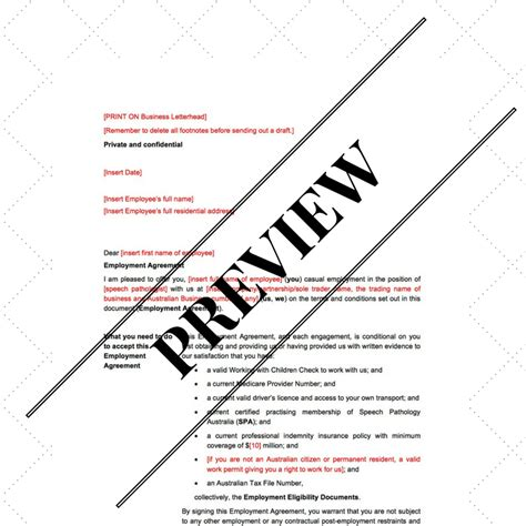 Speech Therapy Contract Template