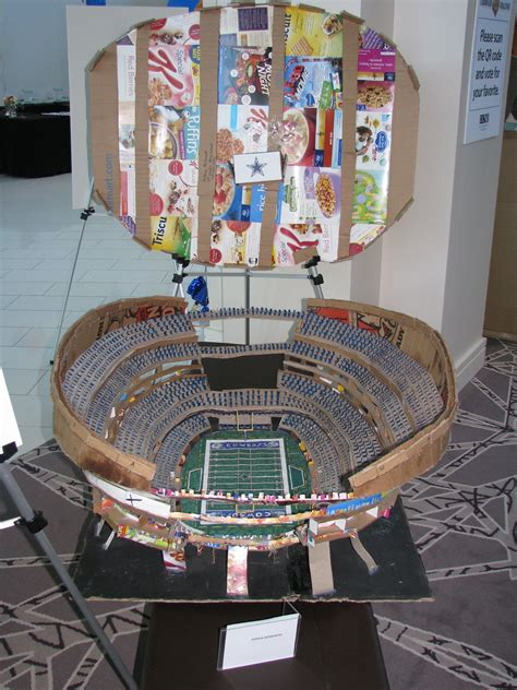 How To Make A Football Stadium Out Of Paper - an award winning cardboard football stadium by joshua