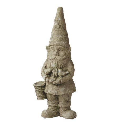 Garden Gnome Statues by Garden Gnome With Birds Sculpture Statue