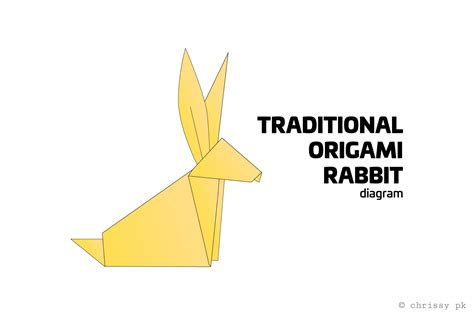 Origami Rabbit Diagram - traditional origami rabbit