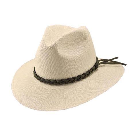 pantropic mendocino panama safari fedora hat straw hats