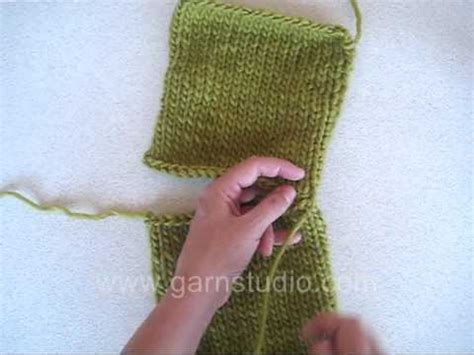 sewing shoulder seams in knitting drops technique tutorial how to sew shoulder seam