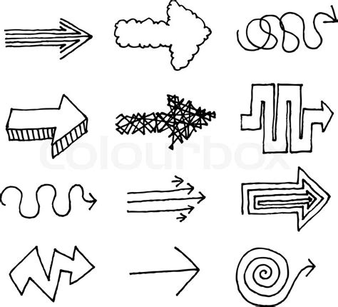 free doodle arrow vector vector arrow set stock vector colourbox