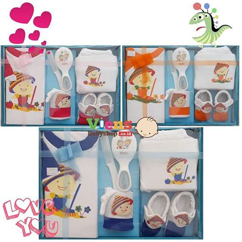 Celline Kiddy Baju Bayi Baby Gift Set gift set baju pendek sisir ibuhamil