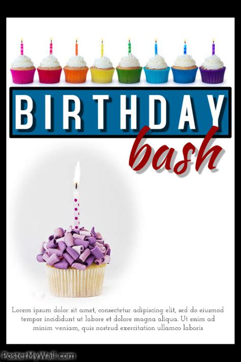 free templates for birthday posters birthday bash template postermywall