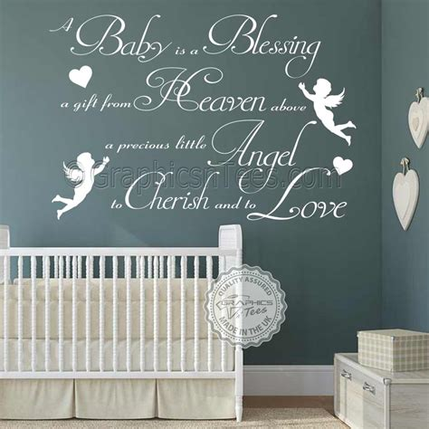 boys nursery wall sticker a baby is a blessing