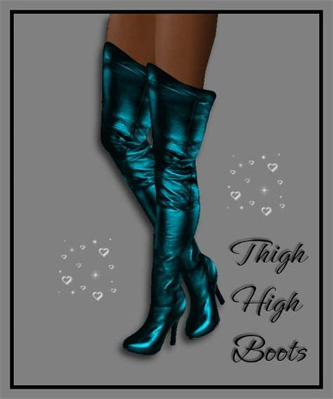 second marketplace thigh high boots metal teal
