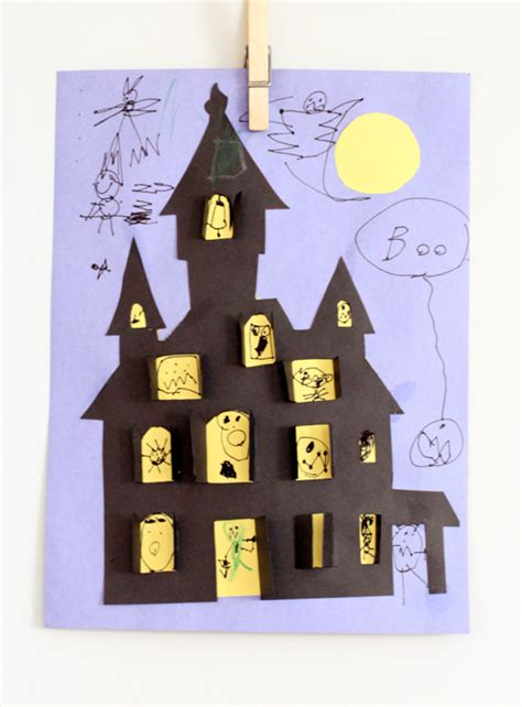 How To Make A Paper Haunted House - 20 crafts spooky and tip junkie
