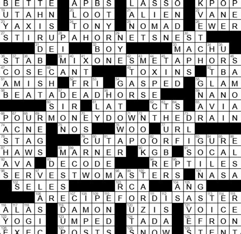 highly recommended film crossword 0528 17 new york times crossword answers 28 may 17 sunday