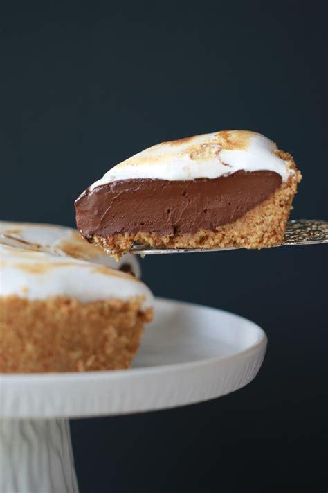 no bake s more pie gemma s bigger bolder baking