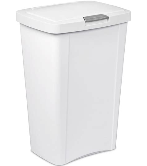 kitchen trash cans sterilite touch top trash can in kitchen trash cans