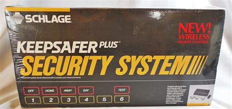 schlage keepsafer plus wireless home security system w