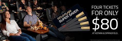 Event Gold Class Gift Card - springfield and kotara gold class super saver