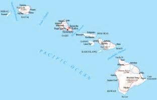 us map w hawaii hawaii counties road map usa