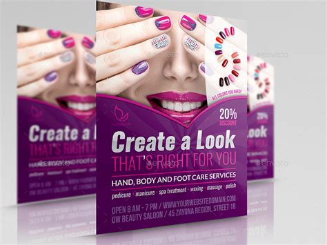 templates for salon flyers nails salon flyer template by owpictures graphicriver