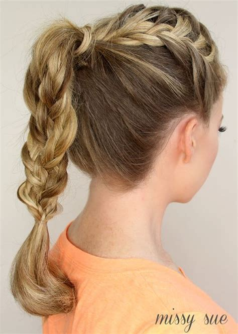 haircuts that still allow a pony tail braided ponytail hairstyles 40 cute ponytails with braids