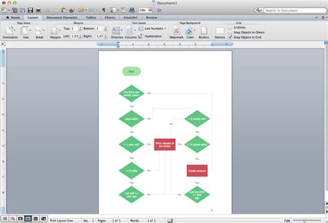 drawing flowchart in word process flow diagram microsoft word wiring diagram manual