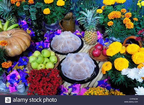 Flower Foods Stock | flower foods stock mexico michoacan patzcuaro altar with