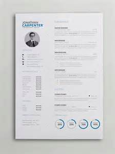 clever resume with charts word psd