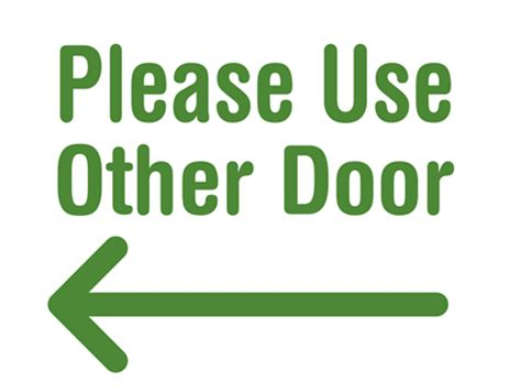 Use Other Door Sign by Use Other Door Yard Sign Signazon