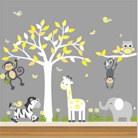 jungle stickers for nursery walls jungle nursery decal nursery tree decal jungle animal
