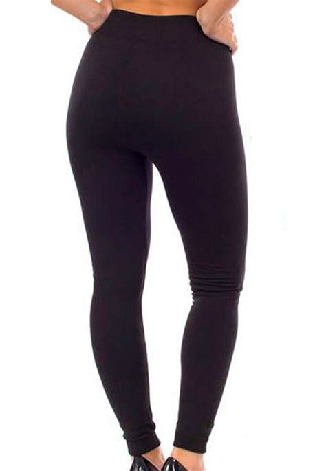 40199 Black Lined Tight Size S free size comfy fleece lined black accessorygate