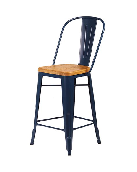 Seat Stool by Cali 955 Metal Bar Stool With Wooden Seat Cape Furniture