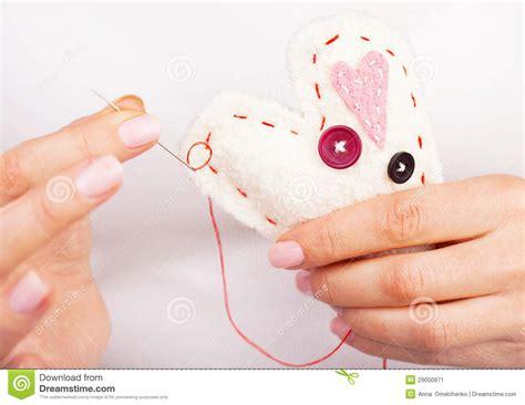 Handcrafted Hearts - handmade stock image image 29000971