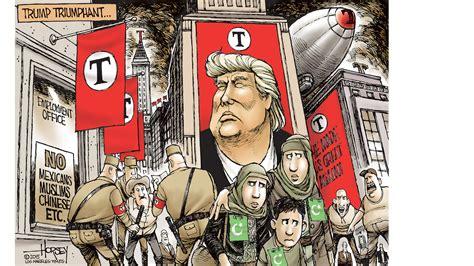trump cartoon donald trump the return of fascism watching america