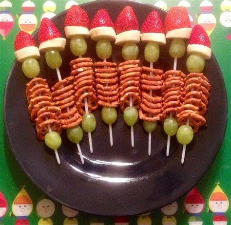 kindergarten class snacks christmas party finger food