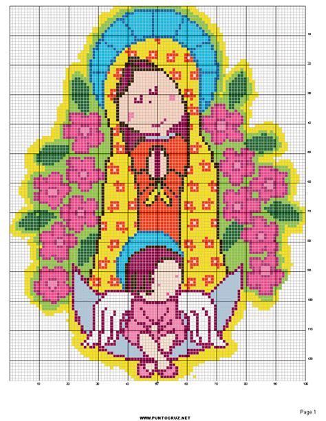 imagenes religiosas gratis en punto de cruz punto de cruz virgen de guadalupe gratis para imprimir