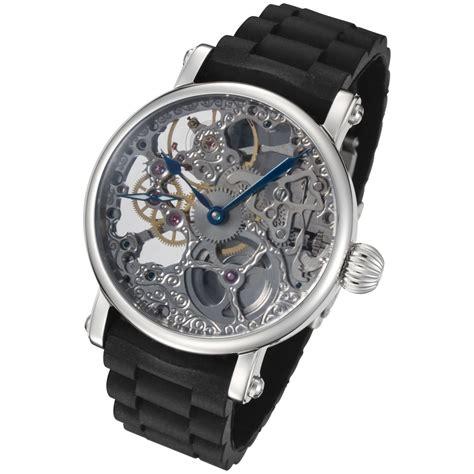 Harga Special Skeleton 2 Silver rougois mechanical skeleton black rubber bracelet rm870