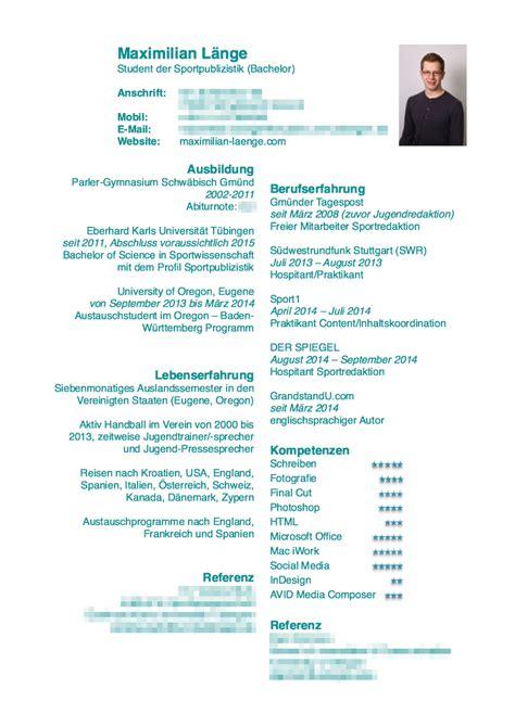 Lebenslauf Vorlage Pdf 2014 R 233 Sum 233 Lebenslauf Maximilian L 228 Nge