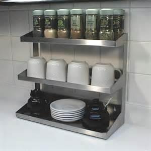 brushed stainless steel spice rack spice racks custom metal home
