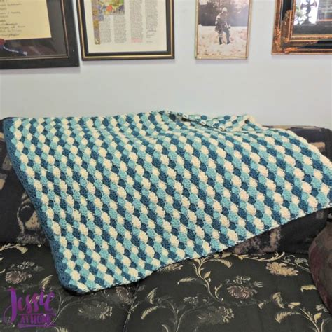 Free Shell Crochet Baby Blanket Pattern by Shell Stitch Baby Blanket At Home