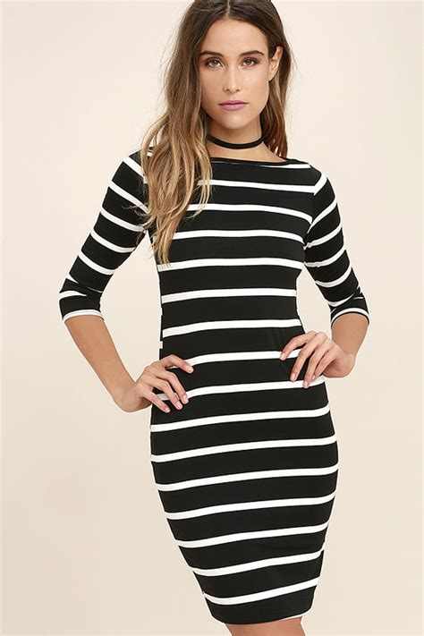 Striped Dress black dress striped dress con dress 35 00