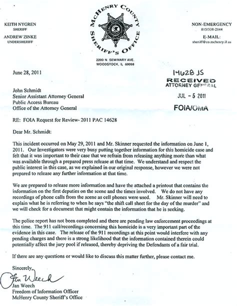 Release Letter From Office sheriff s office says release of 911 call in kurt milliman