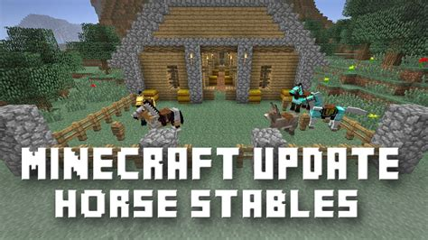 How To Make A Small Barn In Minecraft Minecraft Horses Armor Saddle And Stables Snapshot